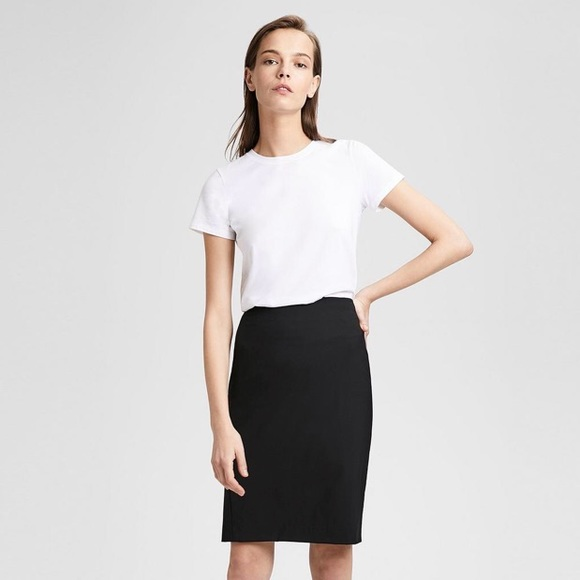 5b553a3d66 Theory Skirts | Size 8 Wool Blend Pencil Skirt Black | Poshmark